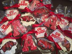 Graduation cookies - University of Arkansas - See more of our cookies at http://www.ctcookietreats.com