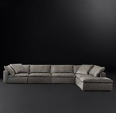 rh cloud sectional rh s cloud modular slipcovered customizable sectional 1963