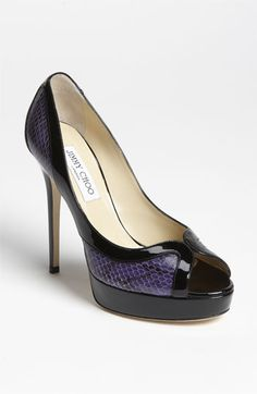 Jimmy Choo 'Teton' Peep Toe Pump available at #Nordstrom