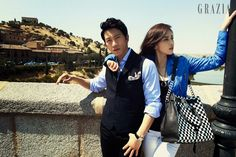 Ji Sung & Lee Bo Young Pre-Wedding Shots From GRAZIA Korea's October 2013 Issue