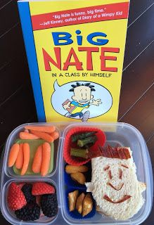 I have not posted very many Story Themed Lunches this year. Boogs primarily reads chapter books now. Lunch Snacks, Lunch Box, Lunches, Cute Food, Good Food, Cute Bento Boxes, Wimpy Kid, Food Humor, Lunch Time