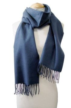 Cashmere Feel Solid Navy Blue Warm Scarf Peach Couture. $7.95