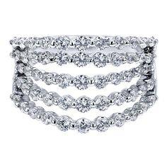 14k White Gold Diamond Fashion Ladies' Ring | Gabriel & Co NY | LR5059W45JJ