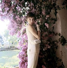 Audrey Hepburn, near Rome, Italy, 1955 - Photo by Norman Parkinson.