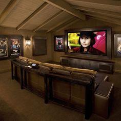 Media Room Bonus Room Design, Pictures, Remodel, Decor and Ideas
