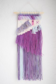 Wall Weave | Handwoven Tapestry | Woven Wall Hanging | Woven Wall Art - nursery decor, yarn wall hanging, wall weave, purple pastel wall art by whiskerwoven on Etsy https://www.etsy.com/listing/498340763/wall-weave-handwoven-tapestry-woven-wall