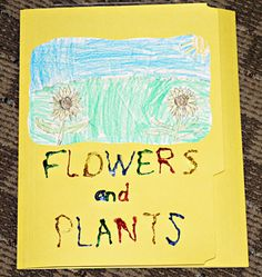 Flowers and Plants Lapbook Enchanted Learning, Mini Books, Lap Books, Quiet Books, Science Notebooks, Interactive Notebooks, Plant Science, Parts Of A Plant, Elementary Science