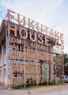Information graphics for Fukutake House #WordPlay #giantfonts   via @helloppomme