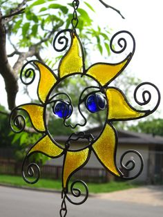 Stained Glass Sunshine Marble Wind Chime