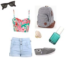 """summer hipster"" by andrea-b-gagne on Polyvore"