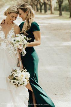 Ara Dress - - Ara Dress Dark Emerald in Mother of the Bride Emerald Green Bridesmaid Dresses, Emerald Bridesmaid Dresses, Bridesmaid Dresses Under 100, Emerald Dresses, Bridesmaids And Groomsmen, Wedding Bridesmaids, Pale Yellow Weddings, The Bride, Wedding Party Dresses