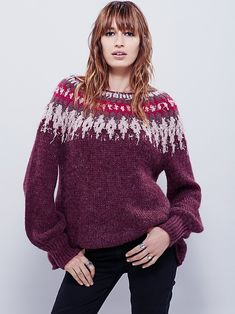 Free People Baltic Fairisle Pullover, $128.00