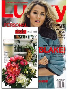 @Flower Girl NYC (Denise Porcaro) custom candle featured in @Lucky Magazine september issue! <3
