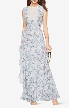 Penelope Floral-Print Gown