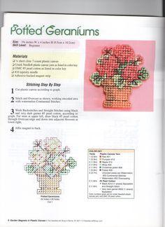 Potted Geraniums Magnet