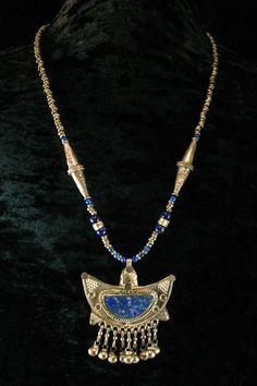 Moroccan Jewelry   Moroccan Jewelry - Lapis Necklace - Ethnic Jewelry - Vintage Pendant ...