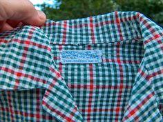 Vintage Child Seersucker Checkered Shirt by by VintageUnderTheSun 1950s Design, 50 Off Sale, Vintage Labels, Seersucker, Clearance Sale, Vintage Children, Kids Shirts, Vintage Outfits, Honey