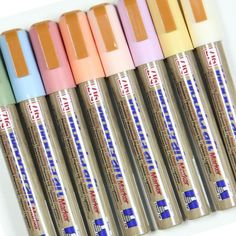 Zig Woodcraft Chalk Pens Assorted Pastel Colours