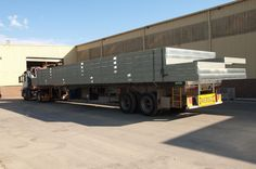 A truckload of prefabricated floor frames ready to leave our factory near Mittagong NSW. Floor Framing, Beams, Flooring, Steel, Delivery, Design, Wood Flooring, Steel Grades