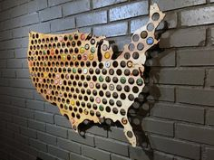 Magnetic Beer Cap Map of USA Craft Beer Bottle Cap Holder. Caps simply stick to the map. Each map is large enough for hundreds of your favorite beer caps. Great Gifts For Guys, Country Maps, Cross Country, Beer Caps, Wall Maps, Wall Mural, Murals, Unique Wall Art, Beer Lovers