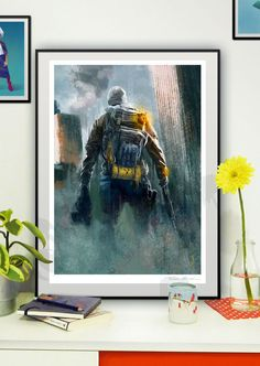 The Division - llustration art giclée print signed by the artist. A2 poster. Tomek Biniek. by TomekBiniek on Etsy