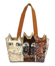 Another great find on #zulily! Brown Ancestral Cats Medium Tote by Laurel Burch #zulilyfinds