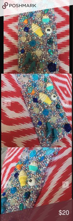 iPhone 6/s Plus Blue Diamond Bling Cabochon Case 3D Blue Diamond Cabochon Kawaii Bling iPhone 6 Plus Hard Case  Super cute embellishments. Be one of a kind with this phone case.  Lavish design. One of a Kind!!  🍦💅🏽👄👀💋👑👛👒🕶🐵🍀❄️🍩💎💎💎  Handmade from durable high quality plastic materials, luxury crystal rhinestone and durable glue.  Won't fall off with proper care!  Colors same as photo Accessories Phone Cases