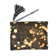 Mooi Jem Bag - Gold Devore (140 NZD) found on Polyvore