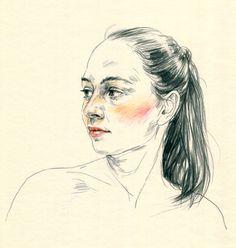Portraits / Set 2 by Agata Marszałek, via Behance