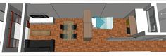 Projeto do escritório Atelier da Reforma - Kitnet Caio Prado - Programa SketchUp