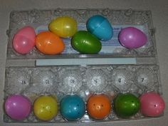 Easter Egg Countdown - Countdown the days until Easter with an egg carton and plastic eggs!