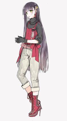 Cute anime girl.