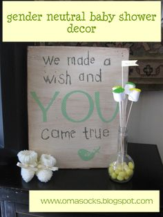 """We made a wish and you came true"" sign. SO going to make this for the baby shower.  And great to hang in the baby's room later."