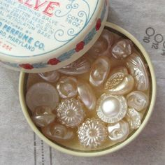 Pearlized Glass Buttons