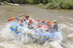 Catching air on the Arkansas River! Come #whitewaterrafting with us and we'll show you how it's done!