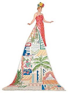Traditional Fiesta Coronation Gown