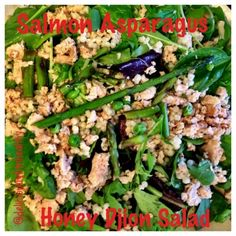 Ripped Recipes - Salmon Asparagus Salad - A fast easy salad that is perfect to pack in the morning and eat later in the day.