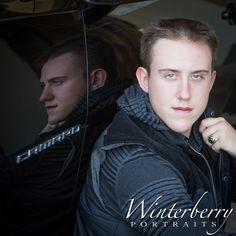 Tyler loves his black camaro! Senior Portraiture