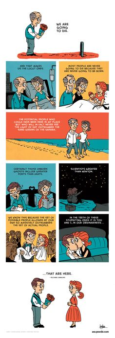 Beautiful Web Comic Illustrating Perhaps The Nicest Thing Richard Dawkins Has Ever Said  (from Upworthy.com)
