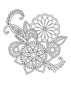 40 Trendy embroidery patterns tree printables mandala coloring pages Mandala Coloring Pages, Coloring Book Pages, Coloring Sheets, Paisley Coloring Pages, Printable Adult Coloring Pages, Flower Doodles, Doodle Flowers, Embroidery Patterns Free, Flower Patterns