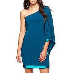 so fun!!!!  Bisou Bisou® One-Shoulder Dress - jcpenney