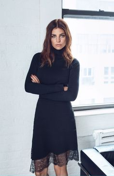 Photographed by Hunter & Gatti, Julia Restoin-Roitfeld poses in New York