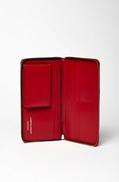 Comme Des Garcons Wallet Rotes Portemonnaie SA Fashion - Porte monnaie comme des garçons