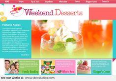 web design by ideo studios Client: Weekend Desserts Free Advertising, Advertising Agency, Web Design, Home Recipes, Design Development, Food Hacks, Seo, Website, Studios
