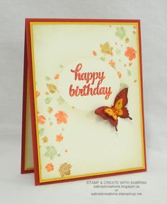 Stamp & Create With Sabrina: Perpetual Calendar & Tin of Cards Stamp… with Papillon Potpourri Fall Birthday, Happy Birthday, Perpetual Birthday Calendar, Butterfly Cards, Stamping Up, Potpourri, Homemade Cards, Cardmaking, Birthday Cards