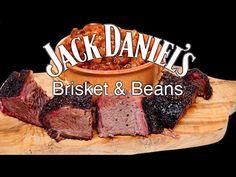 Jack Daniels Brisket & Beans 🔥 - YouTube Brisket Meat, Smoked Brisket, Beef Steak, New Cooking, Cooking Ideas, Bbq Baked Beans, How To Soak Beans, Baked Bean Recipes, Jack Daniels