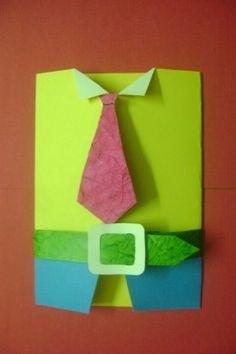 Handmade unique greeting card for men.