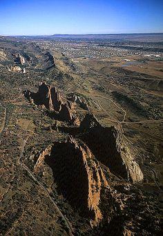 Garden of the Gods   Upturned Sandstone Beds (hogbacks), Colorado Springs, CO (1996)