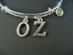 Wizard of Oz Series OZ Silver Bangle Bracelet by DesignsBySuzze, $15.00