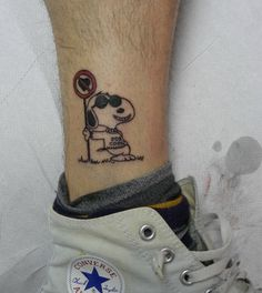 snoopy tatuaggio